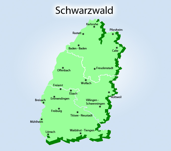 Berge Um Freiburg Karte.Schwarzwald Fremdenverkehrsbuero Info
